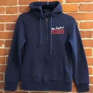 Patriots Dark Navy Zip-Up Hoodie Sweatshirt